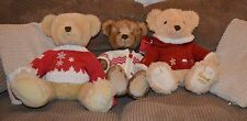 Three  Harrods Teddy Bears Foot Date Stamped 2008, 2009, 2011