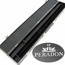 Peradon WIDE Black Attache Case for 2pc Cue and Extension