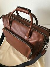Fossil Men's Cognac Brown Leather Carson Travel Bag Carryon Overnite MBG9231222