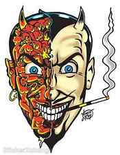 Horny Devil Sticker Decal Poster Art Vince Ray VR24