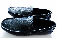 $4275 BRIONI Blue Crocodile Alligator Leather Loafers Shoes 11 US 44 Euro 10 UK