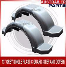 "2 X  13"" GREY SINGLE PLASTIC GUARD WITH STEPS AND COVER"