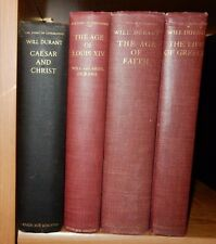 4 books History Religion Will Ariel Durant Faith Louis XIV Caesar Christ Greece