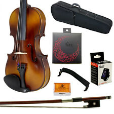 **GIFT PACKAGE** 4/4 Solid Wood Student Violin w Case Bow Rosin String Tuner