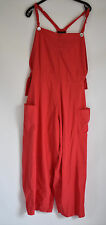 FABULOUS QUIRKY D'CELLI COTTON DUNGAREES IN A FAB RED SIZE M/L