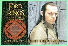 Lord of The Rings Hugo Weaving Elrond's Bronze Silk Robe Costume Card LOTR ROTK