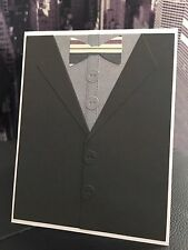 """MFT """"Have A Spiffy Birthday"""" Masculine Male Suit Bow Tie Handmade Card"""