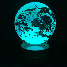 Rotating Magic World Earth Globe LED Color Changing Night Lights Home Decoration