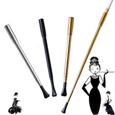 1920s Flapper Lady Extendable Long Cigarette Cig Holder Gold/Silver 45MM/27MM