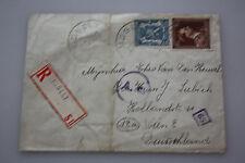 Belgien Tisselt auf Wien ( Deutschland ) 22.5.1944 - R -Einschreiben