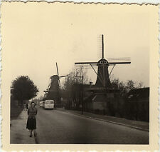PHOTO ANCIENNE - VINTAGE SNAPSHOT - MOULIN À VENT RUE - WINDMILL STREET