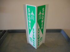 EMED CO INC. SHOWER EYEWASH PLASTIC SIGN L:20IN W:9IN H:3 1/2IN