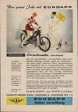 Werbung: Zündapp-Werke GmbH MÜNCHEN Combinette Solo Moped