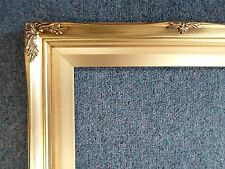 Picture Frame- Ornate Antique Bright & Dark Gold Vintage Style Wood- 11 x 14