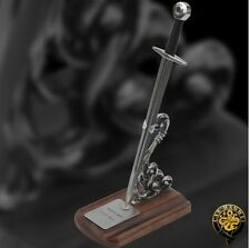 Sir William Marshall Knightly Miniature Sword Letter Opener with Display Stand