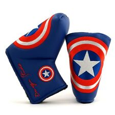 Golf Blade Putter Head Cover, Scotty Cameron Odyssey Ping Ghost, Captain America