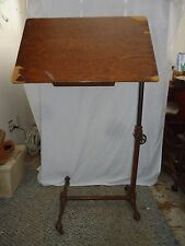 ANTIQUE  SIDWAY TABLE,INDUSTRIAL DRAFTING MEDICAL TABLE,TILTING,CLAW BALL FEET,D