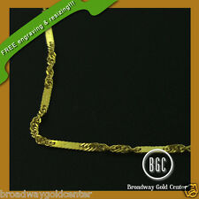 10k Yellow Gold Singapore Link Chain 18 inches ONLY $85 LIMITED SUPPLY ONLY!!!