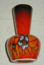 MID CENTURY MODERN ITALIAN ART POTTERY VASE, BOLD RED GLAZE, FLOWER DECOR