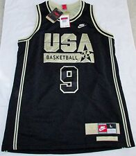 Nike USA Dream Team Micheal Jordan Limited Edition Black/Gold Jersey Large NEW