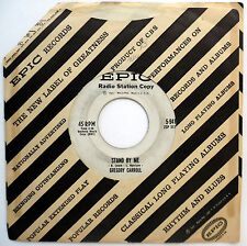 GREGORY CARROLL 45 Stand By Me / Wa Ding Dung Doo PROMO Soul POPCORN 1960 e1630