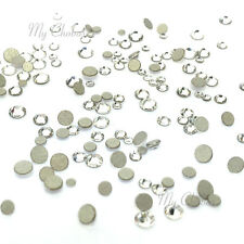 144 mixed tiny sizes ss3-ss10 Swarovski 2058 Flatback nail art clear CRYSTAL 001