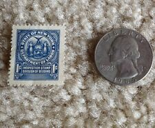 State of New York 1 cent inspection of bedding tax stamp dept of labor