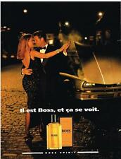 PUBLICITE ADVERTISING   1992   HUGO BOSS   BOSS SPIRIT parfum
