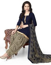 Elegant Crepe Designer Printed Patiala Unstitched Dress Material Suit.No RE4513
