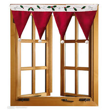 Blended Cotton Door Window Drape Panel Christmas Day Curtain Decorative Home