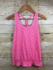 Lululemon Ivivva Two's A Tank Girls 14 Pink Print Looped Racer Back Top