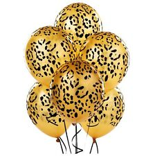 Cheater Spot Print Balloons x 6 Safari Zoo Jungle Farm Animal party decoration
