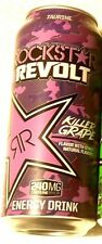 2017 FULL Can 16 oz ROCKSTAR Energy Drink REVOLT KILLER GRAPE