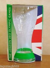Coca Cola London 2012 Olympics Glass & Green Wristband Coke Boxed Unused VGC
