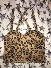 Women's Leopard Print Crop Top Size Large Worn Once