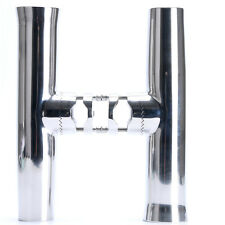 """Set of 2 Stainless Tournament Clamp on Fishing Rod Holder for Rails 7/8"""" to 1"""""""