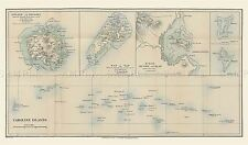 MAP REPRO ANTIQUE CHRISTIAN PONAPE CAROLINE ISLANDS LARGE ART PRINT LF886