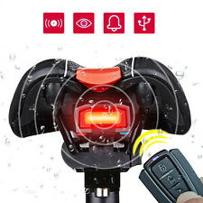 Bicycle 3 in 1 Tail Light Wireless Alarm Bell Remote Control Lock Fixed Position