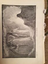 u1-3 ephemera 1890 religious book plate saul at endor
