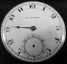VINTAGE ANTIQUE MOVEMENT SOUTH BEND WATCH COMPANY 19J 19 JEWELS 4 ADJUSTMENTS