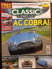 Classic & Sports Car August 2015 AC Cobra Fiat 600 Jolly MX5 Subaru SVX Lotus