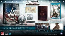 Nintendo Wii U gioco Assassin 'S CREED 3 Join or la Collector' s Edition NUOVO