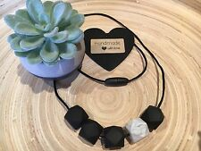 Silicone Sensory Baby (was teething) Necklace for Mum Jewellery Beads Aus Black