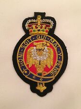 The Blues & Royals Blazer Badge, Army, Military, Embroidered, Armed Forces Day