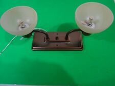 *RV 12 VOLT DUAL CEILING MOUNT LED LIGHT BRONZE FROTED COVERS
