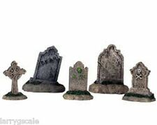 Headstone Tombstone Miniatures (5) 1/24 Scale G Scale Diorama Accessory Items