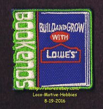 LMH PATCH Badge  BOOKENDS  Kid's Build Grow  LOWES Project Series  BOOK ENDS