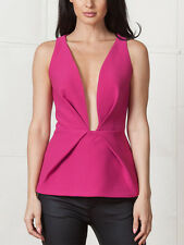 Finders Keepers il creatore bassa anteriore Berry Pink Top Bustier Canotta 6 8 NUOVI