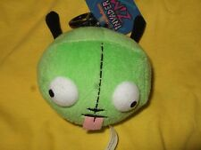 NWT Green Alien Invader Zim Robot Gir in Disguise Dog Ears Head Plush Clip On