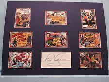 B Western Movie Star - Rex Allen & his horse Koko & Rex Allen Autograph